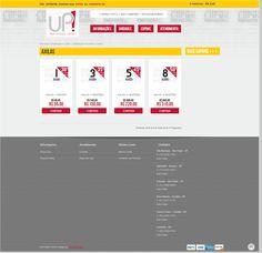 Página para escolha de número de sessões. UP! Laser Esthetic Center - Loja virtual para compra de cupons para tratamentos estéticos.