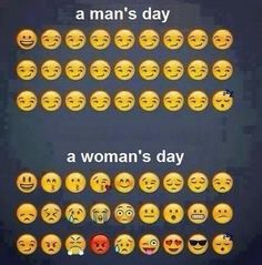 Man's day vs. Woman's day