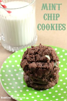 Mint Chocolate Chip Cookie Recipe - to die for!