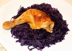Pečené kurča s červenou kapustou, Delená strava - recepty, recept | Naničmama.sk Chicken Recipes, Cabbage, Low Carb, Beef, Vegetables, Recipies, Meat, Cabbages, Vegetable Recipes