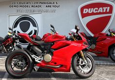 """We have our first shipment of the brand new superbike from Bologna, the Ducati 1299 Panigale! We now have an """"S"""" model in our DEMO fleet. That means you can come down and take it for a ride! (MC endorsement & full riding gear required) Our address: 8509 Gunn Hwy, Odessa, FL 33556"""