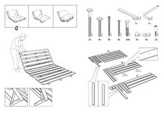 "IKEA GRANKULLA FUTON SOFA FRAME 55X43X32"" Assembly Instruction   Page 3 - Free PDF Download (6 Pages) Outdoor Chairs, Outdoor Furniture, Outdoor Decor, Ikea Chair, Sofa Frame, Futon Sofa, 3, Free, Design"