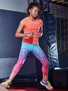 beb1d85b433f8 Athleta Girl Spacedye Tracker Tee $39 + Arctic Chit Chat Tight $49 Athletic  Outfits, Athletic