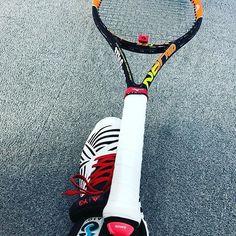 Pinを追加しました!/久々の昼修行なう 最近肩が痛くて、軽い95J 289g ^^; #キャンセル待ちとれた #いつもはてっぺん越え深夜修行 #tennis #wilson #adidas