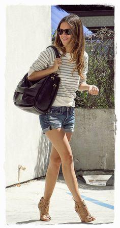 #Rachel #Bilson #Denim #Shorts #Street Style 03