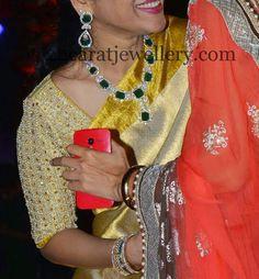 Jewellery Designs: Celebrity Jewellery at Rajeev Wedding