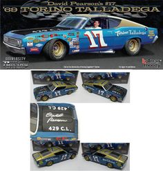1969 DAVID PEARSON #17 FORD TORINO TALLADEGA *AUTOGRPHED* 1/24 UNIVERSITY OF RACING LEGENDS DIECAST