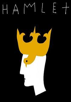 Hamlet, Shakespeare, Polish Theater Poster