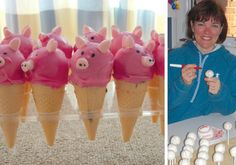 The cake cones (with the 'mallow filling) are the BEST! We were invited to 2 pig roast parties last summer. Strawberry marshmallows came in real handy here! – Betty-Ann