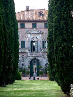 Villa Cetinale, a 17th century Baroque villa and Italiana gardens in Tuscany.