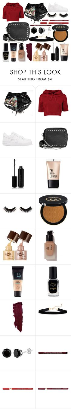 """Day Out"" by susanna-trad on Polyvore featuring NIKE, H&M, Marc Jacobs, Charlotte Russe, Gucci, e.l.f., Maybelline, Barry M and Bourjois"
