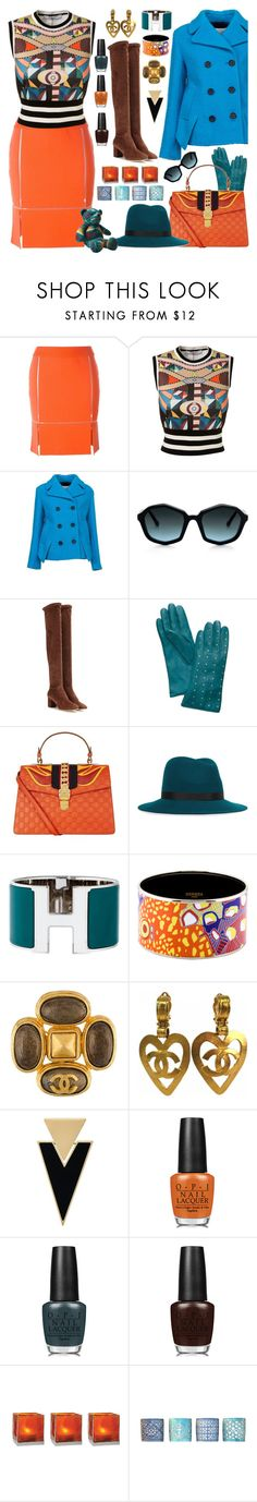 """THE COLORS OF AUTUMN"" by purplerose27 ❤ liked on Polyvore featuring Courrèges, Givenchy, 3.1 Phillip Lim, Dolce&Gabbana, Tory Burch, Gucci, rag & bone, Hermès, Chanel and Yves Saint Laurent"