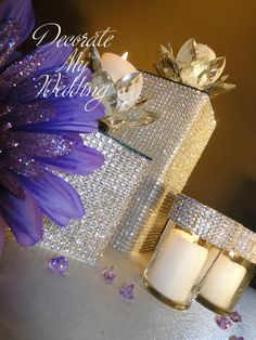 DECORATE MY WEDDING Crystal Rhinestone Wedding Decorations