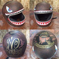 My custom paint helmet represent to my babyshark