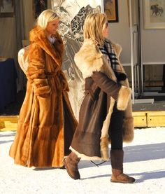 Love a long coat ... a lot of people are shortening there long furs. A long fur is majorr