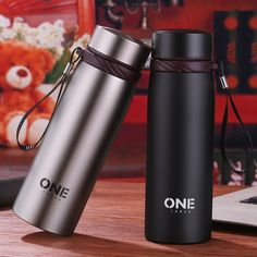 Stainless 400ml Vacuum Thermal Cup Insulated Travel Coffee Mug w//Tea Filter