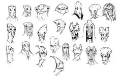 Alien Face Sketches  ★ || CHARACTER DESIGN REFERENCES (https://www.facebook.com/CharacterDesignReferences & https://www.pinterest.com/characterdesigh) • Love Character Design? Join the Character Design Challenge (link→ https://www.facebook.com/groups/CharacterDesignChallenge) Share your unique vision of a theme, promote your art in a community of over 25.000 artists! || ★