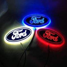 Aliexpress.com : Buy Free Shipping 14.5*5.6 cm 4D Ford Focus Rear Lights LED Ford Emblem, Blue/ Red/ White Lighted Ford Emblem from Reliable led emblem suppliers on RTCarAccessories Online Store $17.19