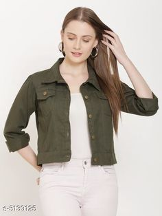 Jackets Fancy Women's Jackets Fabric: Cotton Sleeve Length: Long Sleeves Pattern: Solid Multipack: 1 Sizes:  S (Bust Size: 36 in Length Size: 28 in)  XL (Bust Size: 42 in Length Size: 28 in)  L (Bust Size: 40 in Length Size: 28 in)  M (Bust Size: 38 in Length Size: 28 in) Country of Origin: India Sizes Available: S, M, L, XL, XXL   Catalog Rating: ★4.2 (17234)  Catalog Name: Comfy Fabulous Women Jackets CatalogID_758744 C79-SC1023 Code: 023-5139125-