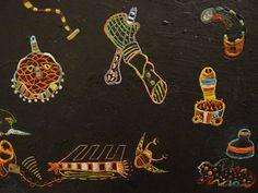 encaustic painting wax objects unconscious mythology figures