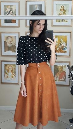 Dress Modest Church Polka Dots 68 Ideas - Fits your own style instead of . - Dress Modest Church Polka Dots 68 Ideas – Fits your own style instead of hours of preparation Fin - Apostolic Fashion, Modest Fashion, Fashion Dresses, Fashion Clothes, Fall Fashion Trends, Autumn Fashion, Fashion News, Fashion Fashion, Meeting Outfit