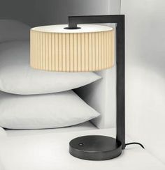 Art Deco inspired Chicago table lamp pictured here in Black Bronze and teamed with a bespoke Ivory Gable Pleated shade All Of The Lights, Mirror With Lights, Light Table, Lamp Light, Interior Lighting, Lighting Design, Creative Lamps, Cool Lamps, Lighting Solutions