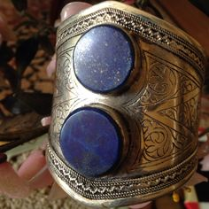 Vintage lapis cuff Amazing fit any hand size 800 silver beautiful detail Lapis Jewelry Bracelets