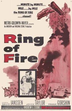 "FRANK GORSHIN  is Frank Henderson in ""RING OF FIRE"" (1961) starring DAVID JANSSEN."