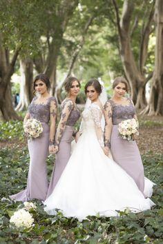 Sisters as bridesmaids 💜