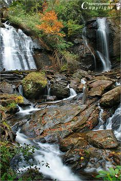 Fall At The Falls By Tommy Simms Anna Ruby Falls near Helen, Georgia (USA)