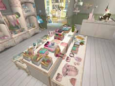 Baby Boutique. Virtual Retail Décor Displays using The Sims 2.