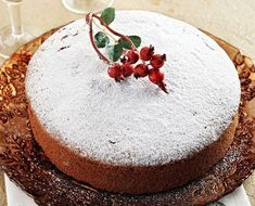 Vasilopita the Greek New Year's cake - Honest Cooking Greek Sweets, Greek Desserts, Greek Recipes, Winter Desserts, Xmas Food, Christmas Sweets, Yummy Treats, Sweet Treats, Enjoy Your Meal
