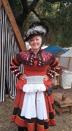 Whilja de Gothia Renaissance Mode, Renaissance Costume, Medieval Costume, Renaissance Fashion, Renaissance Clothing, Medieval Dress, German Fashion, European Fashion, Historical Costume