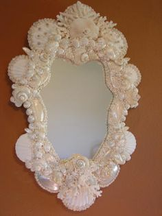 pearly shell mirror