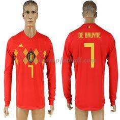 Billige Fotballdrakter Belgia VM 2018 De Bruyne 7 Hjemme Draktsett Langermet