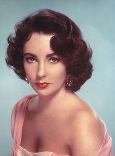 The Glamour Of Elizabeth Taylor. Really liking the idea of retro glamour hair. Very classy and timeless.