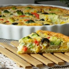Vegetarian Quiche~ I LOVE making all kinds of quiche! This one sounds delicious :)