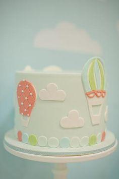 Hot Air Balloon Cake. #beautifulbabyshower