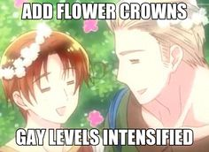((When Germany and Italy wear flower crowns, the GerIta only becomes stronger.))