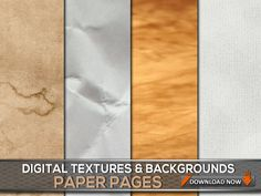 60 Paper Textures & Paper Backgrounds - Paper Photoshop Overlays, Paper Backdrops DIGITAL Collection, Digital Background, Digital Backdrop