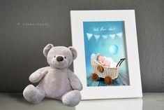 Baby- & Geburtskarten - ♥ BABY ♥ FOTO eingerahmt - ein Designerstück von ideen-depot bei DaWanda