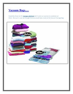 With the use of a few vacuum #bags you can easily double the available space in your wardrobes, and find some extra space under the bed.  And the price point makes it a smart option for the average space challenged consumer.