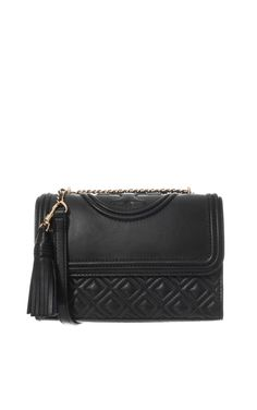 Axelremsväska Fleming Small Convertible Shoulder Bag BLACK - Tory Burch - Designers - Raglady
