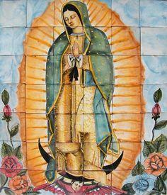 mexican tile backsplash: talavera mural - Mexican tiles & talavera tile murals
