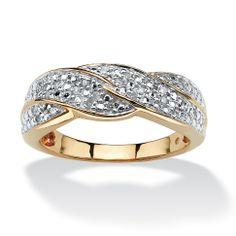 1/10 TCW Round Diamond Braid Ring in 10k Gold at PalmBeach
