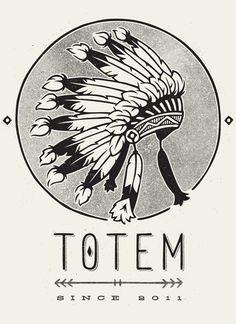 Totem Apparel by Damian King, via Behance
