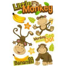 Paper House 3D Stickers, Little Monkey