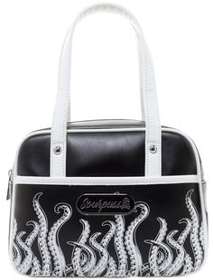 SOURPUSS TENTACLES MINI BOWLER PURSE  - Sourpuss Clothing