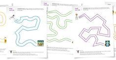 Teaching Blog Addict: Free Maze Worksheets (great fine motor practice!)