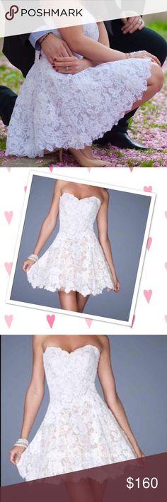 La femme wedding, rehearsal, prom dress lace Gorgeous dress can be used as wedding, rehearsal, prom dress. It was altered little in back to fit better. Size 2 La Femme Dresses Wedding